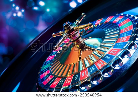 high contrast image of casino roulette Royalty-Free Stock Photo #250540954