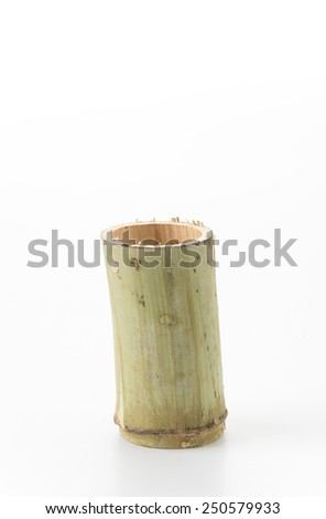 glutinous rice roasted in bamboo joints #250579933