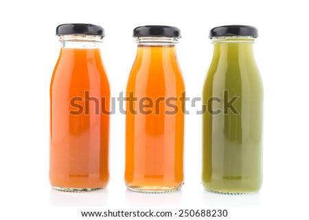 Juice bottle isolated on white background #250688230