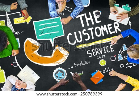 The Customer Service Target Market Support Assistance Concept Royalty-Free Stock Photo #250789399