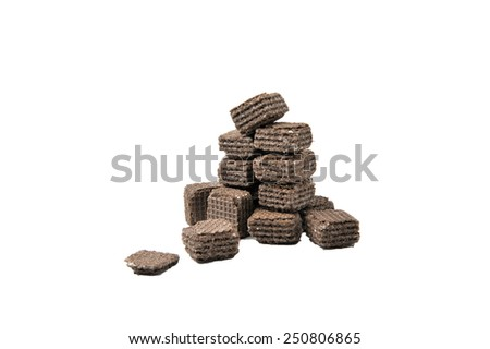 A chocolate isolated on a white background #250806865