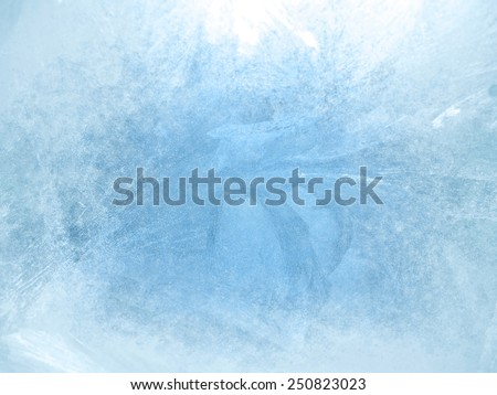 Ice on a window, background Royalty-Free Stock Photo #250823023