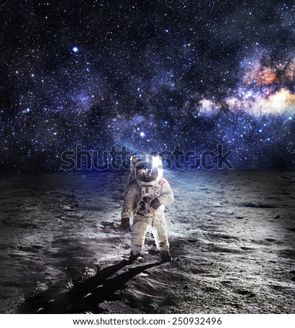 Astronaut on the Moon - Elements of this Image Furnished by NASA #250932496