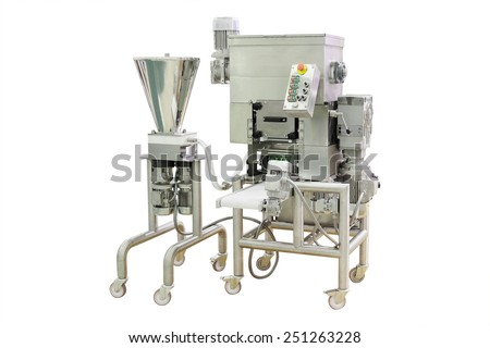 image of a food industry equipment under the white background #251263228
