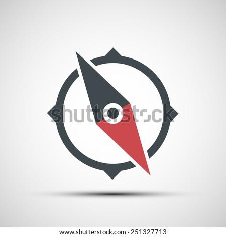 Vector compass icon