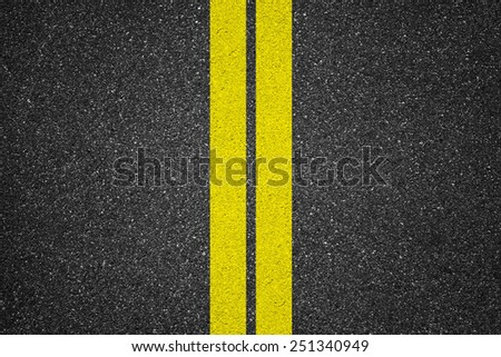 Asphalt texture background with lines  #251340949