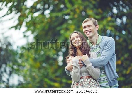 Romantic dates spending leisure in park #251346673