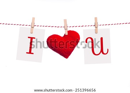 Valentines Day Sweet holiday background, hearts and greeting card on white background. I love you concept.
