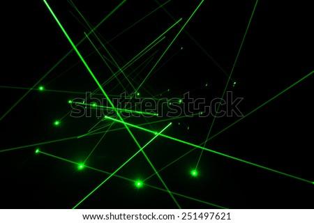 Abstract of digital green light laser line #251497621