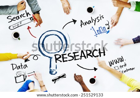 Group of People with Research Concept Royalty-Free Stock Photo #251529133