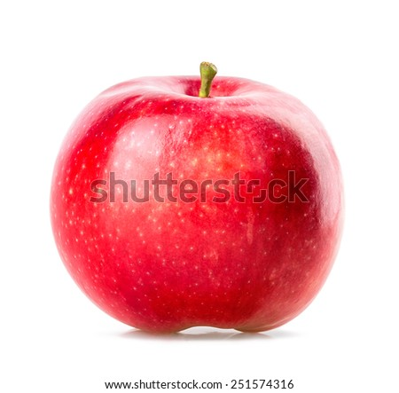red apple Isolated on white background #251574316