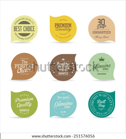 Modern badges collection Royalty-Free Stock Photo #251576056