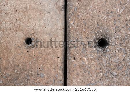 concrete hole #251669155