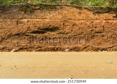 Section of  dirt road. #251730949