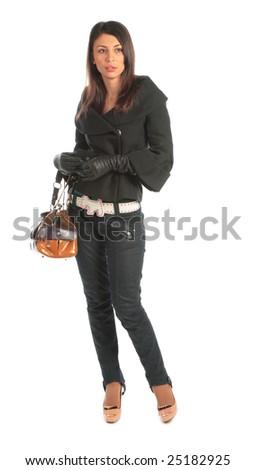 Beauty girl with bag #25182925