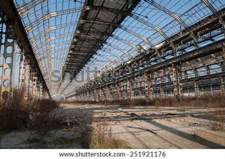 Photo taken inside an abandoned factory near milan #251921176