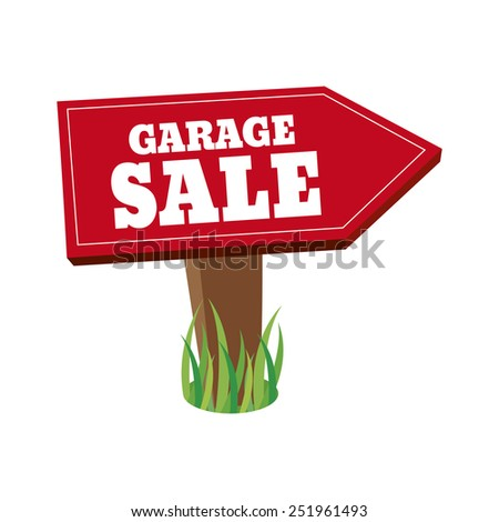 abstract garage sale object on a white background