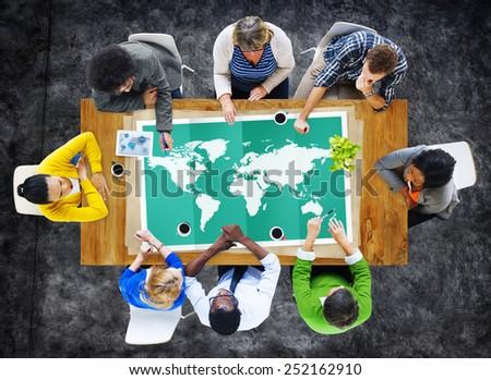 World Global Business Cartography Globalization International Concept #252162910