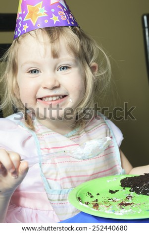 A Children Birthday Cake with big smile