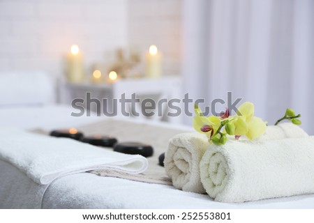 Place for relaxation in modern wellness center #252553801