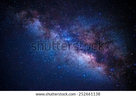 detail from the milky way Royalty-Free Stock Photo #252661138