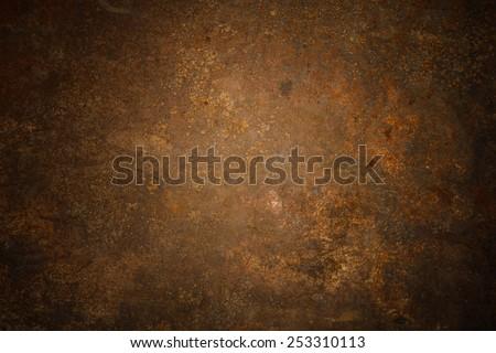 Steel walkway mats sprayed red rust.Iron surface rust Royalty-Free Stock Photo #253310113