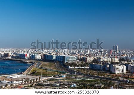 City panorama. Casablanca, Morocco.  Africa #253326370