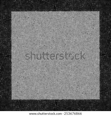 gray and black background based on cardboard and paper textures, edge, frame #253676866