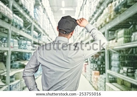 portrait of caucasian delivery man on white background #253755016