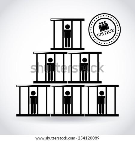 justice concept design, vector illustration eps10 graphic  #254120089