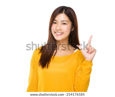 Woman with tick gesture #254176585