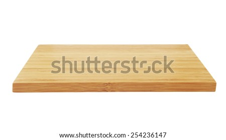 Cutting board isolated on white background #254236147