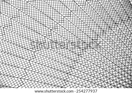 Abstract lines in black and white, abstract exterior background in Sydney, granite wall,lines,black and white photo,diagonal, angle, interior, architecture background, pattern #254277937