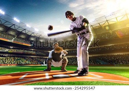 Professional baseball players on the grand arena #254295547