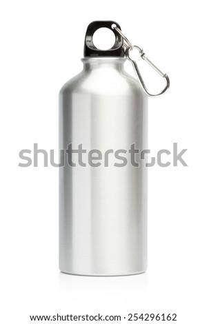 Aluminum bottle water isolated white background #254296162
