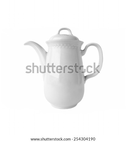 White Ceramic  Coffee Pot isolated on white background #254304190