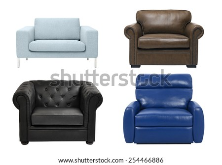 luxury armchair isolated on white background #254466886