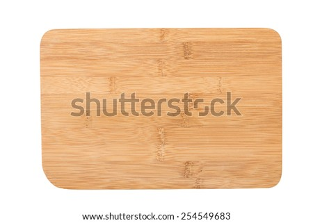 Wooden Chopping Board Isolated on a White Background. #254549683