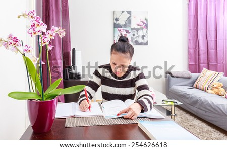 asian Immigrant studying #254626618