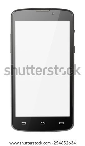 Modern touch screen smartphone isolated on white with clipping path #254652634