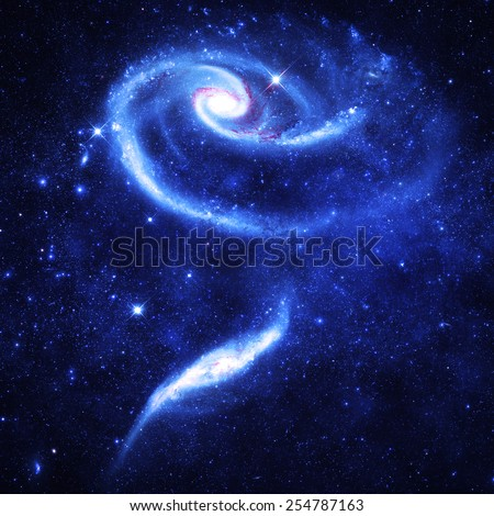 Icy Rose Galaxy - Elements of this Image Furnished by NASA