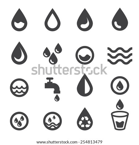 water icon Royalty-Free Stock Photo #254813479