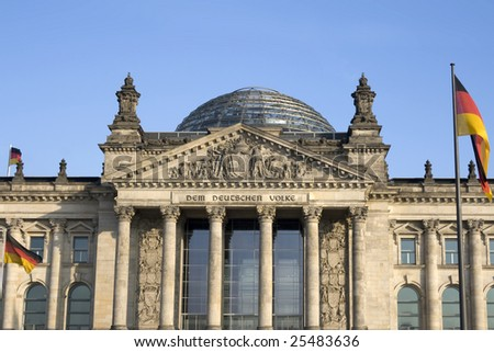 The Reichstag building, Berlin. Meeting place of the modern German parliament, the Bundestag. #25483636