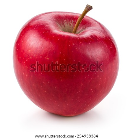 Fresh red apple isolated on white. With clipping path Royalty-Free Stock Photo #254938384