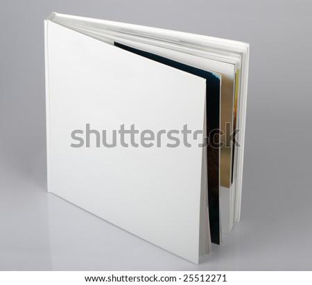 The open pure white book #25512271