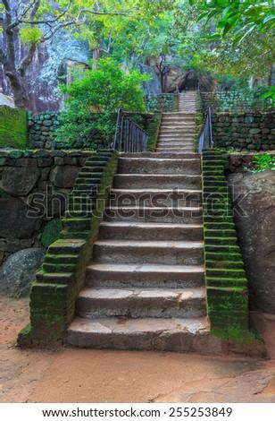 Old stairs in Sigiriya Castle, SriLanka #255253849