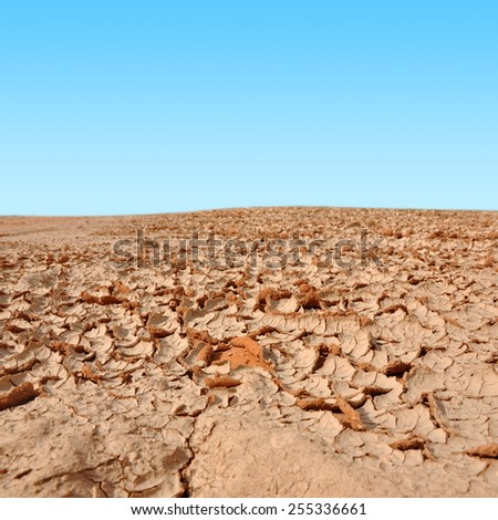 Dry land with sky #255336661