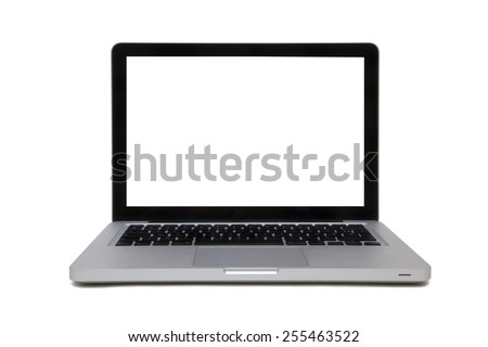 SILVER LAPTOP ISOLATED #255463522