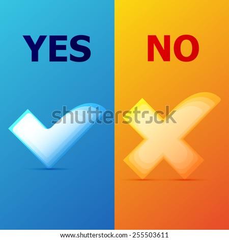 Check mark Yes and No #255503611
