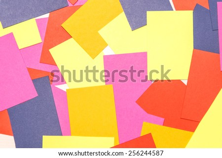 Color paper note on background.
